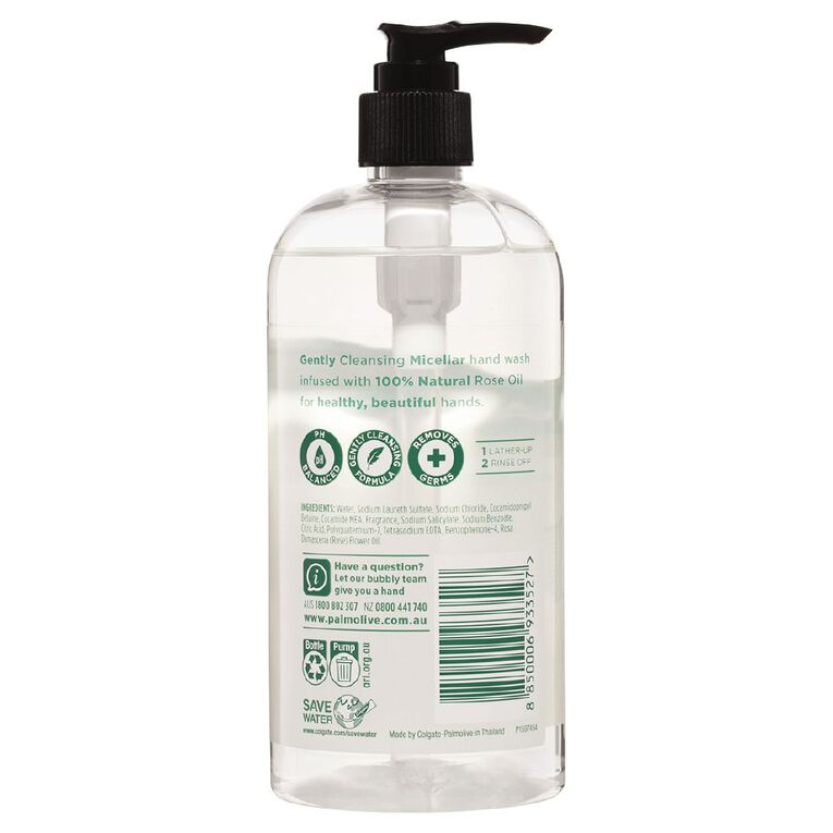 Palmolive Liquid Handwash Micellar Rose 500ml, , hi-res