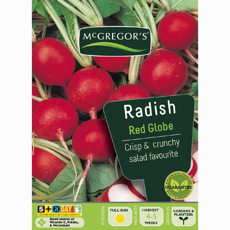 McGregor's Red Globe Radish Vegetable Seeds, , hi-res