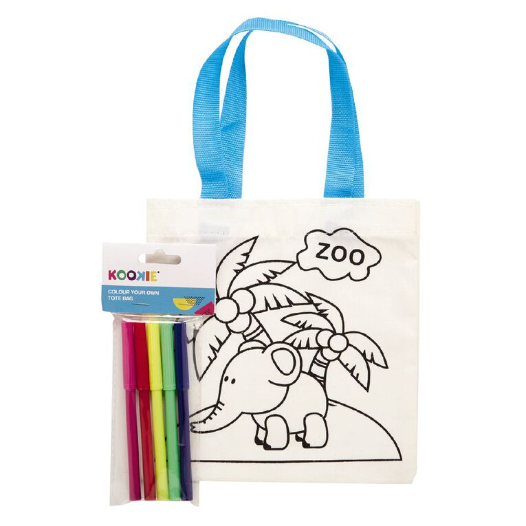 Kookie Colour Your Own Tote Bag Assorted 1 Pack, , hi-res