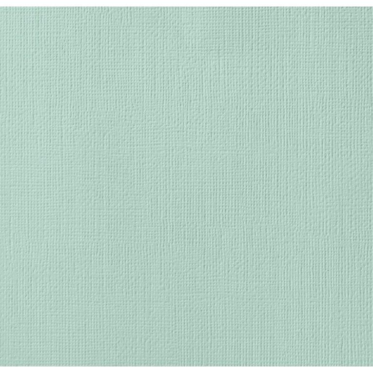 American Crafts Cardstock Textured Seafoam 12in x 12in, , hi-res