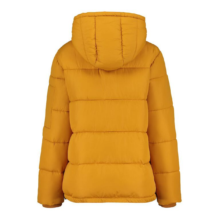 H&H Women's Hooded Puffer Jacket, Yellow Mid, hi-res