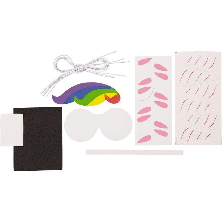 Kookie Foam Fun Glasses Accessory Unicorn 6 Pack, , hi-res