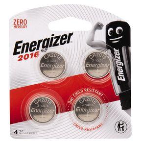 Energizer Lithium Batteries 2016 4 Pack