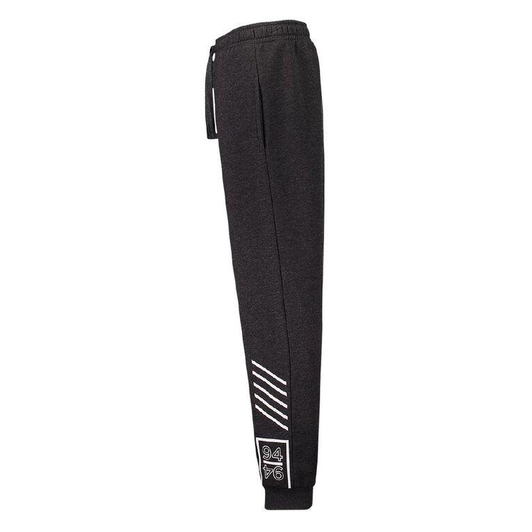Young Original Print Leg Trackpants, Grey Dark, hi-res