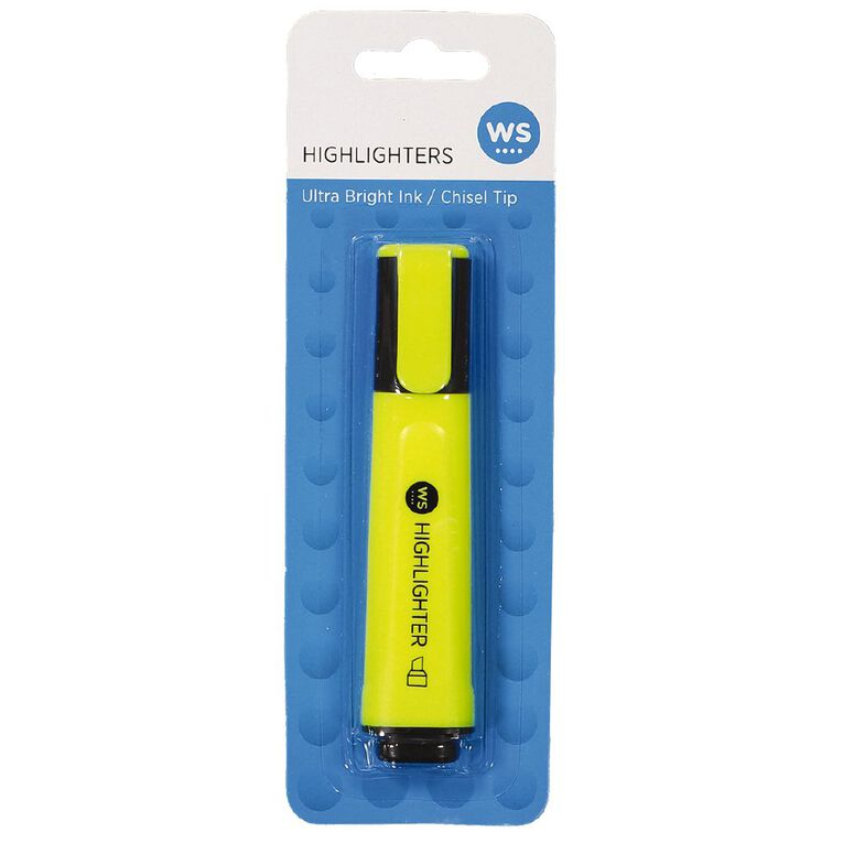 WS Highlighter Single Yellow, , hi-res