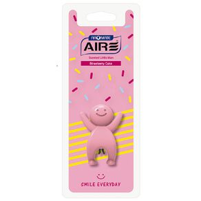 Aromate Strawberry Cake Scented Little Man Auto Air Freshener