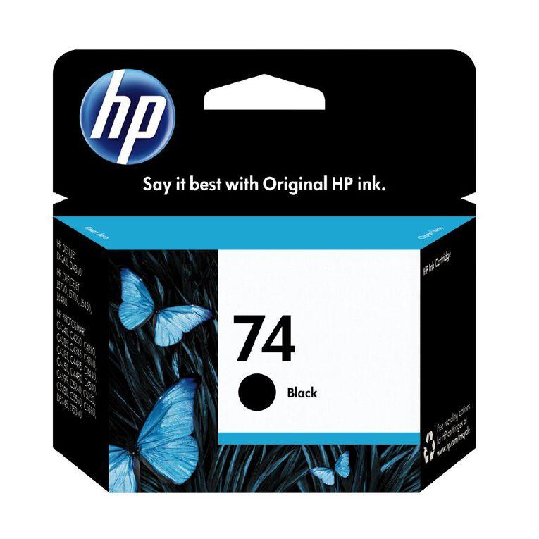 HP Ink Cartridge 74 Black (200 Pages), , hi-res
