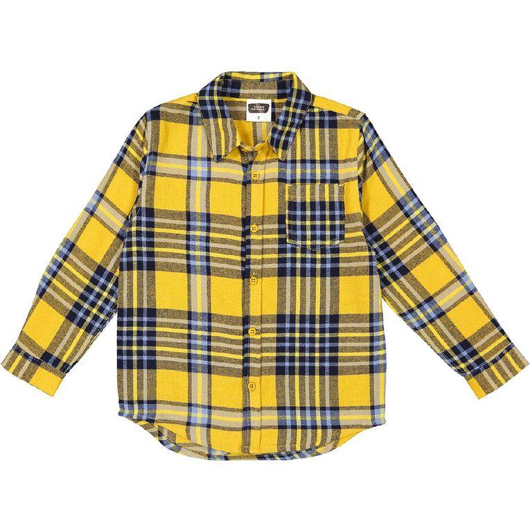 Young Original Check Flannel Shirt, Yellow Dark, hi-res