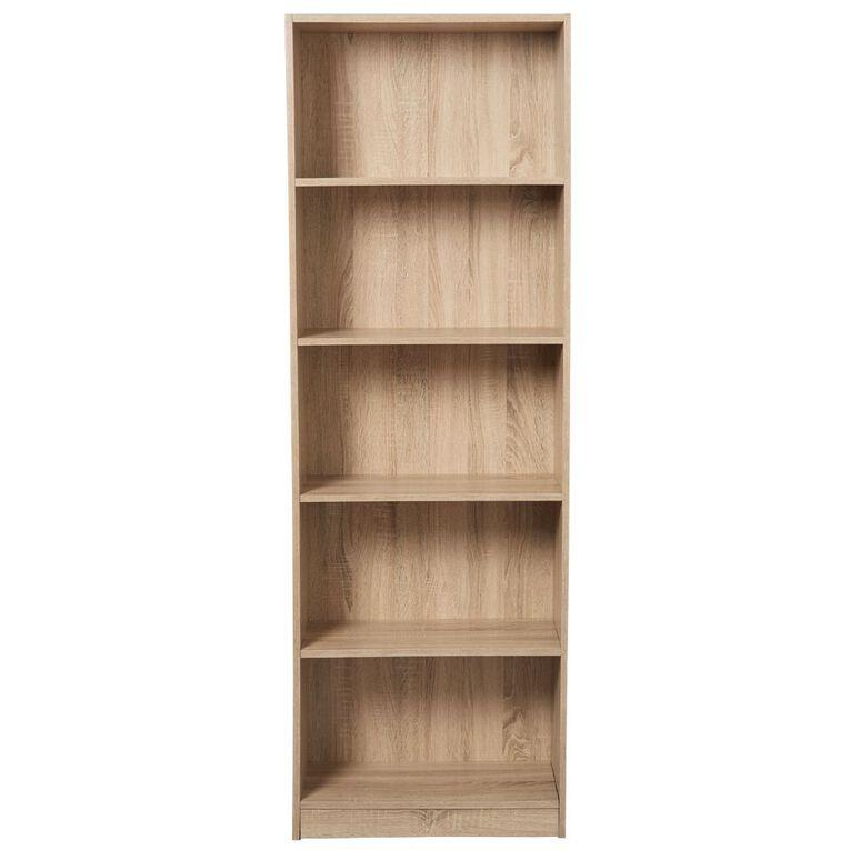 Living & Co Mason Bookcase 5 Tier Oak Look, , hi-res