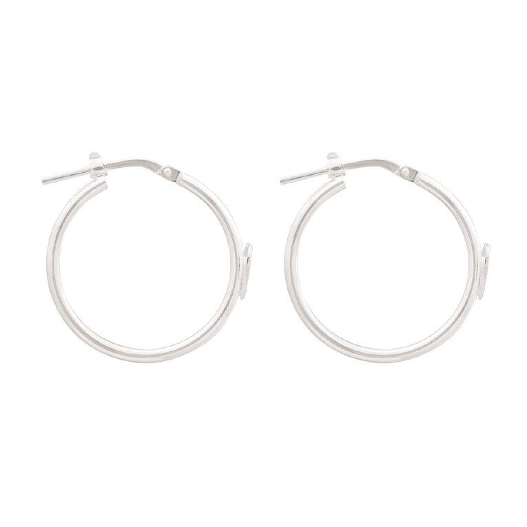 Sterling Silver Hoop Heart Earring, , hi-res