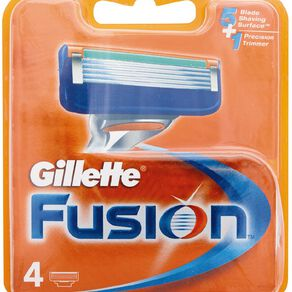 Gillette Fusion Refill Cartridges 4 Pack