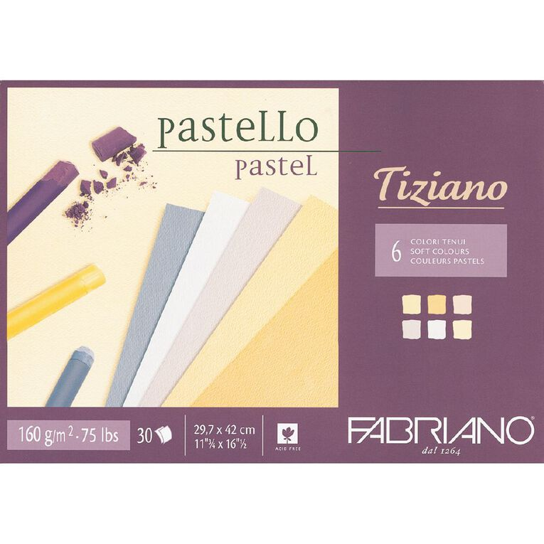 Fabriano Tiziano Pastel Art Pad Soft Colours 160GSM A3, , hi-res