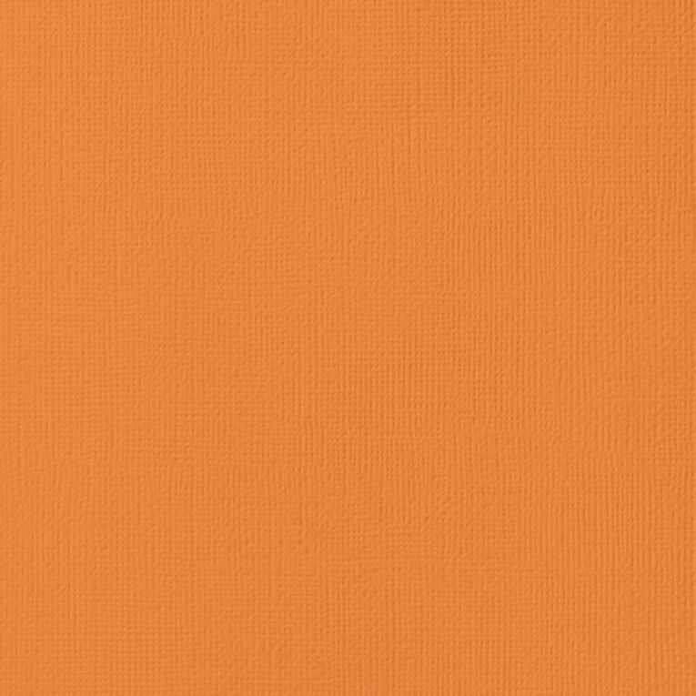 American Crafts Cardstock Textured Carrot Orange 12in x 12in, , hi-res image number null