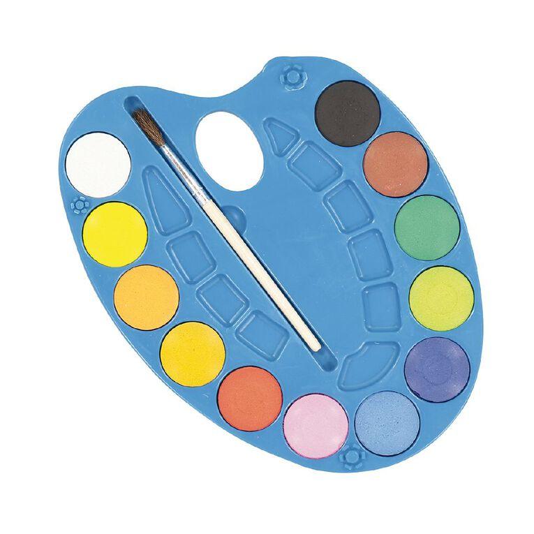 Kookie Watercolour Tablet 12 Pack Multi-Coloured, , hi-res