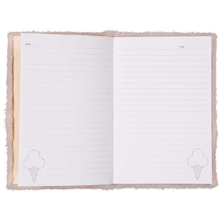 Kookie Novelty Notebook Hardcover Pom Pom Ice Cream Pink, , hi-res