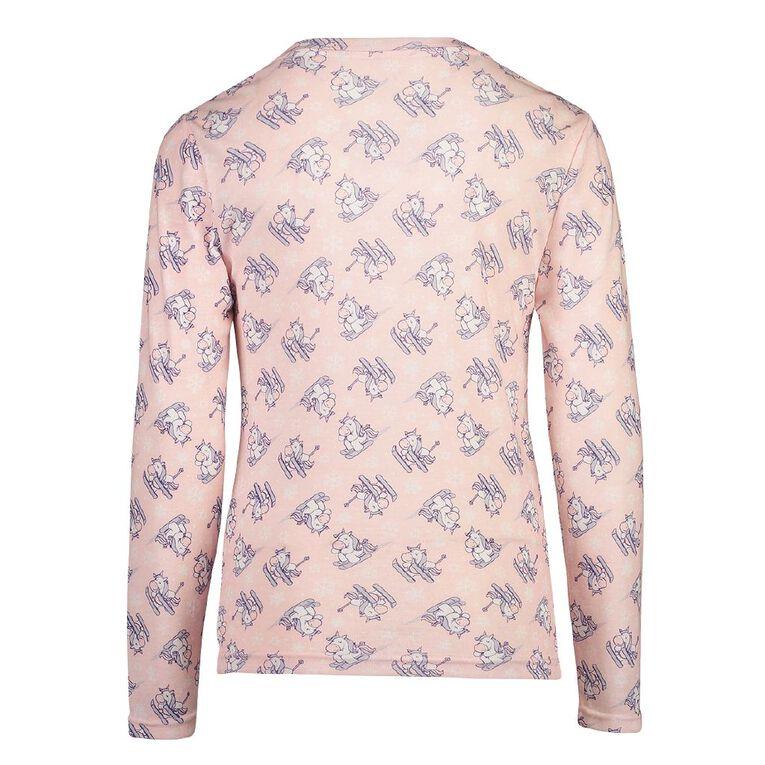 H&H Polyester Viscose Long Sleeve Thermal Top, Pink, hi-res