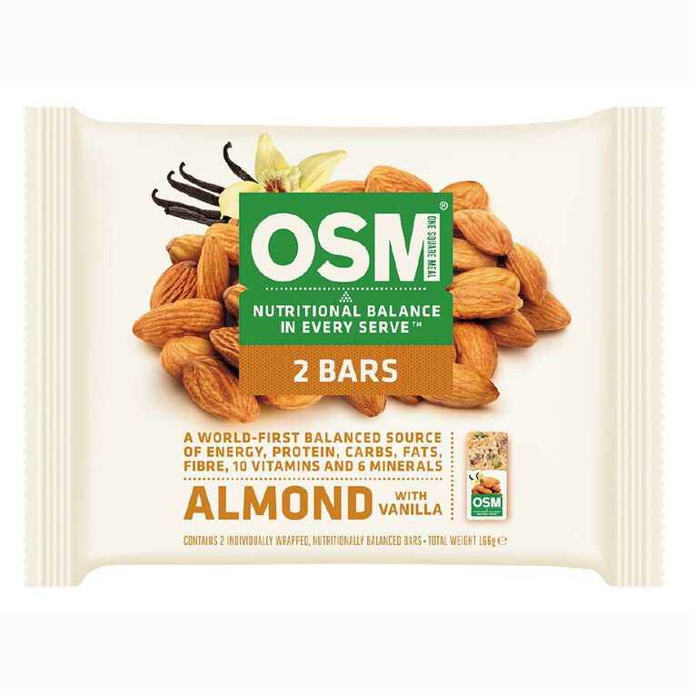 One Square Meal Vanilla Almond 166g 2 Pack, , hi-res