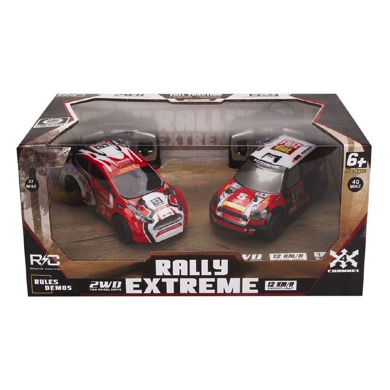 Radio Controlled 1:28 4 Channel 2WD Rally Extreme 2 Pack Assorted, , hi-res