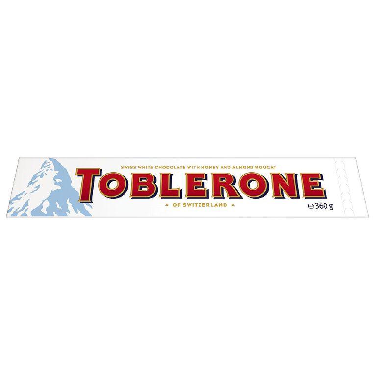 Toblerone White 360g, , hi-res