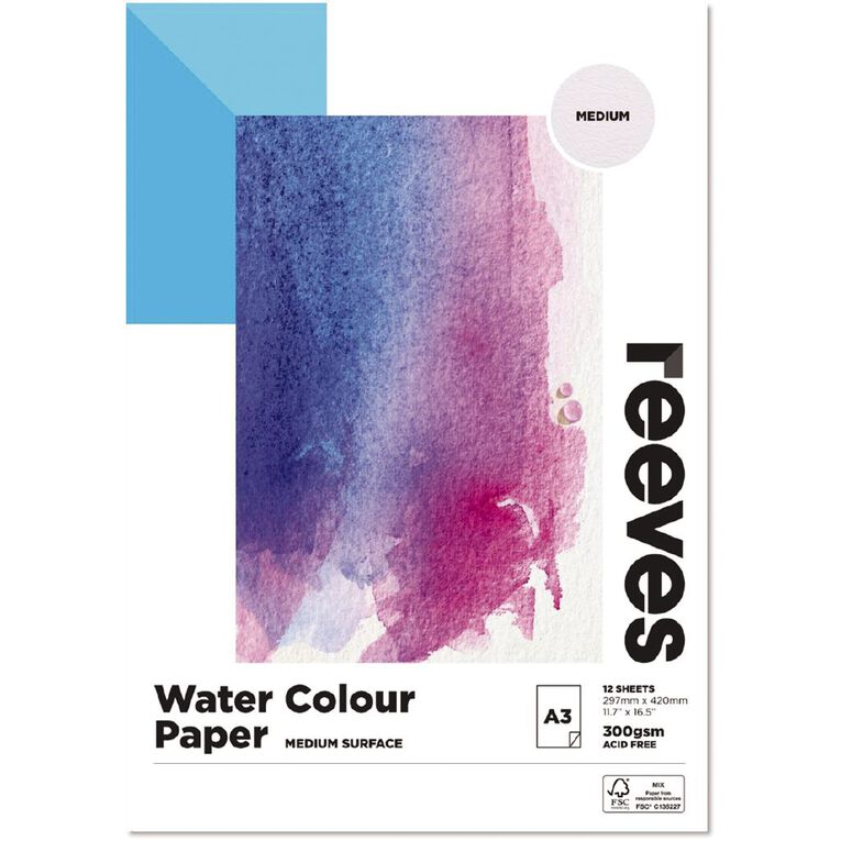 Reeves Water Colour Pad A3, , hi-res