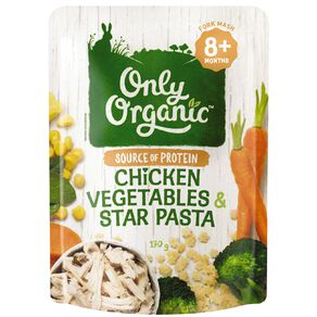 Only Good Only Organic Chicken Vegetables & Star Pasta 170g Pouch