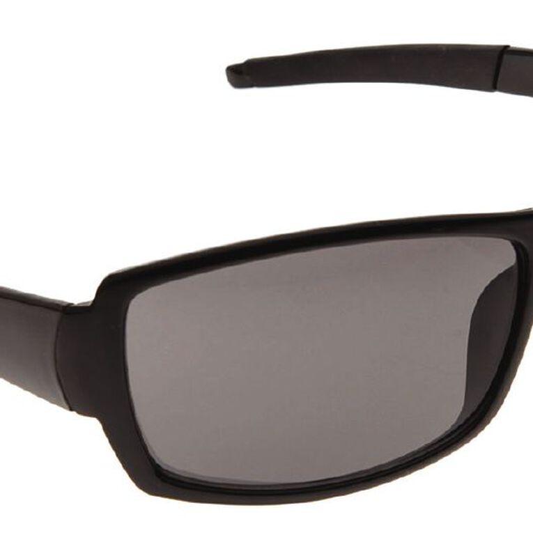 Beach Works Men's Classic Wrap Sunglasses, Black, hi-res