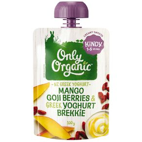 Only Organic Kindy Mango & Goji Berry Greek Yoghurt Brekkie Pouch