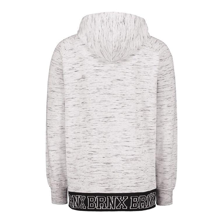 Garage Men's Hooded Raglan Jacquard Sweatshirt, White/Black, hi-res