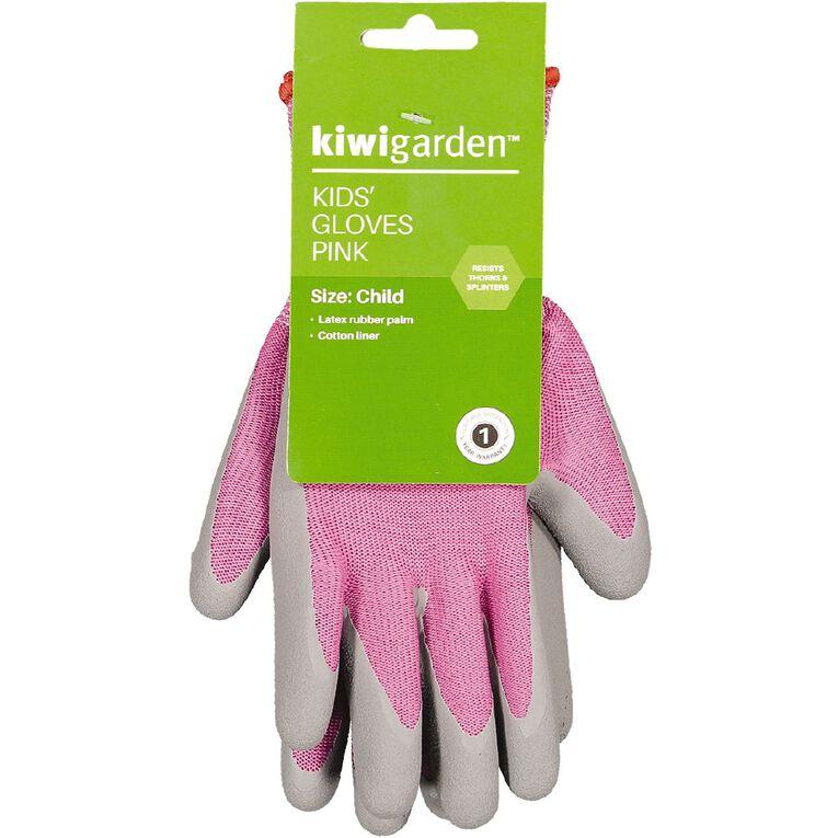 Kiwi Garden Kids Gloves Pink, , hi-res