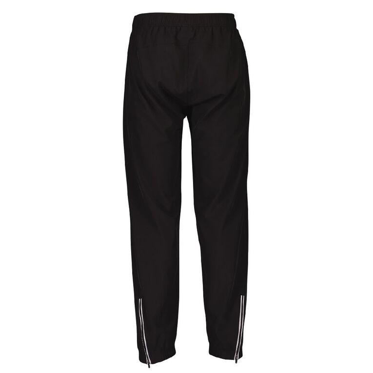 Active Intent Men's Slim Leg Woven Trackpants, Black, hi-res