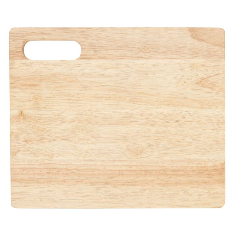 Living & Co Rubber Wood Chopping Board 33cm, , hi-res