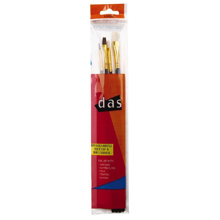 DAS Brush Set Das Red Sable & Hog 4 Pack, , hi-res