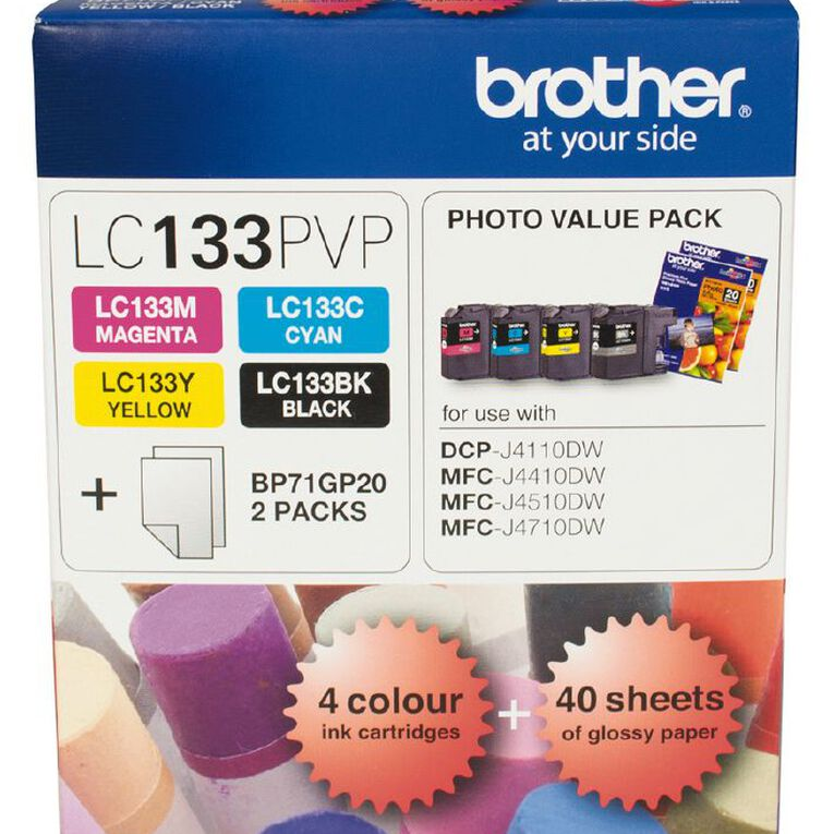 Brother Ink LC133 Photo Value 4 Pack (600 pages), , hi-res