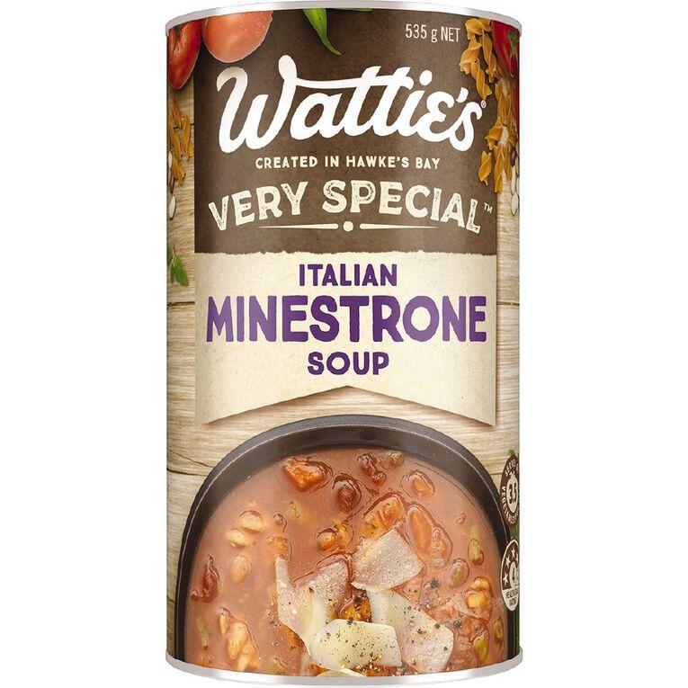 Wattie's Very Special Soup Italian Minestrone 535g, , hi-res