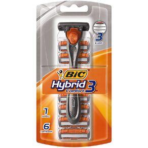 Bic Hybrid Advance Men's Triple Blade Disposable Razor 6 Pack