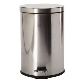 Living & Co Pedal Bin Stainless Steel Silver Silver 20L