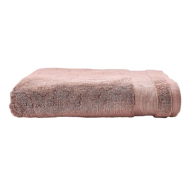 Living & Co Hotel Collection Spa Towel Pink Dark 90cm x 150cm, Pink Dark, hi-res
