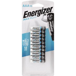 Energizer Max Plus Advanced Batteries AAA 10 Pack