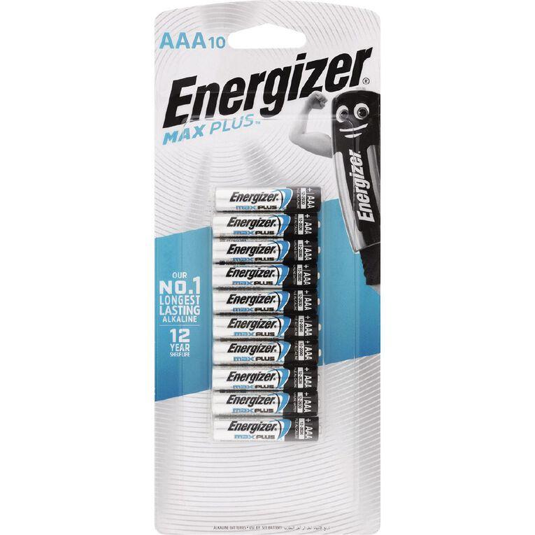 Energizer Max Plus Advanced Batteries AAA 10 Pack, , hi-res