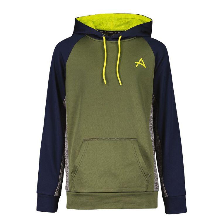Active Intent Boys' Colour Block Sweatshirt, Green Dark, hi-res