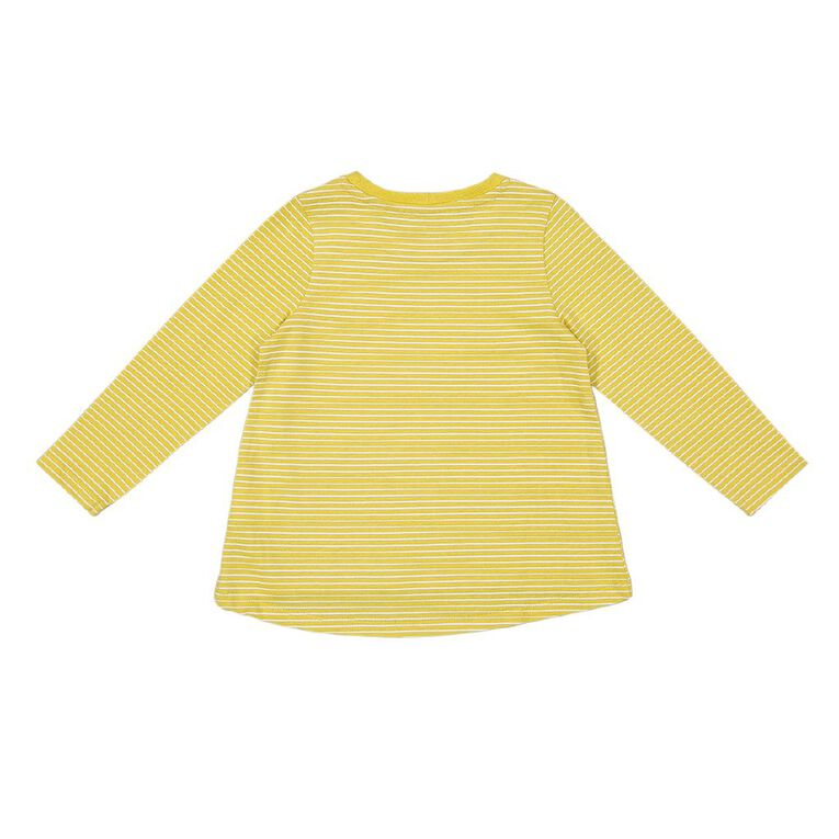 Young Original Toddler Long Sleeve Printed Tee, Yellow Mid, hi-res