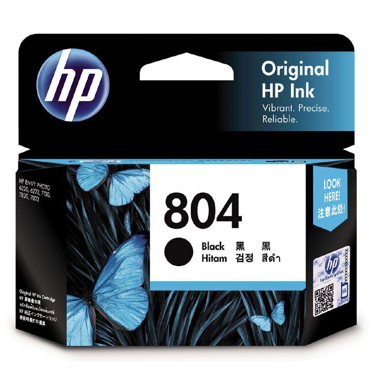 HP Ink Cartridge 804 Black (200 Pages), , hi-res