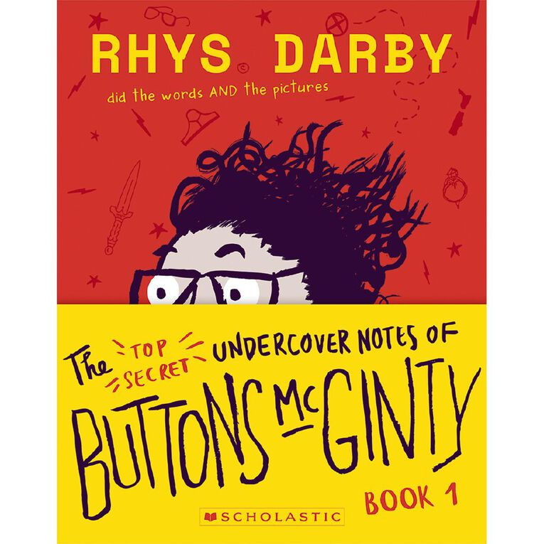 The Top Secret Undercover Notes of Buttons McGinty by Rhys Darby, , hi-res