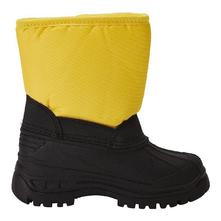 Young Original Infants' Flake Snow Boots, Yellow, hi-res