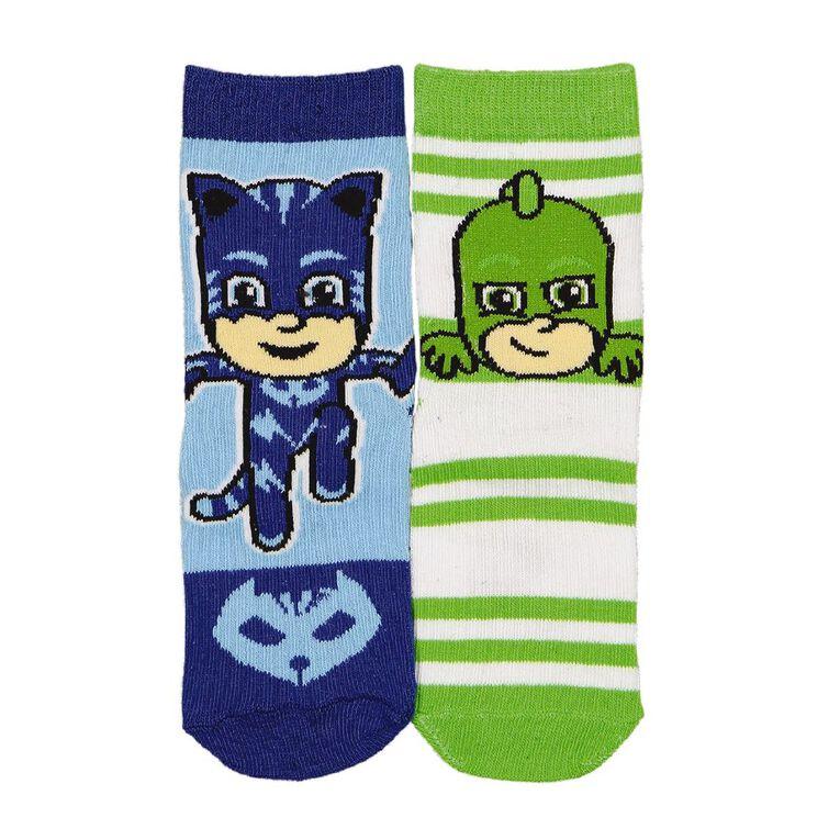 PJ Masks Boys' Crew Socks 2 Pack, Blue, hi-res