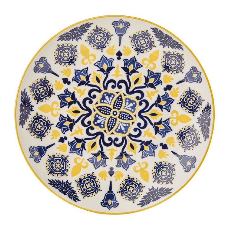 Living & Co Global Moroccan Floral Side Plate Multi-Coloured, , hi-res