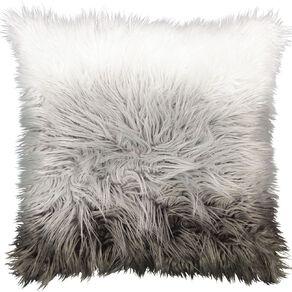 Living & Co Faux Fur Floor Cushion Ombre Grey 60cm x 60cm