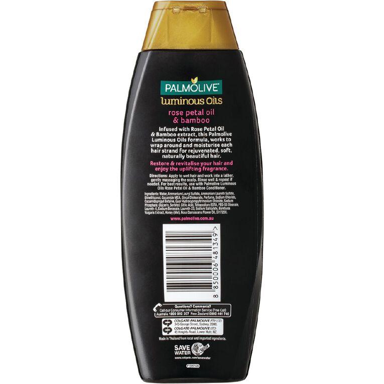 Palmolive Luminous Oils Rose Petal Oils & Bamboo Shampoo 350ml, , hi-res