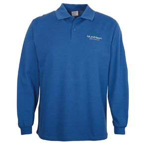 Schooltex Murchison Area Long Sleeve Polo with Embroidery