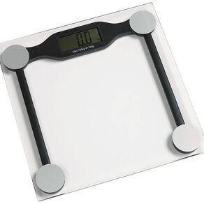 Living & Co Bathroom Scale Digital Square Glass Clear 28cm